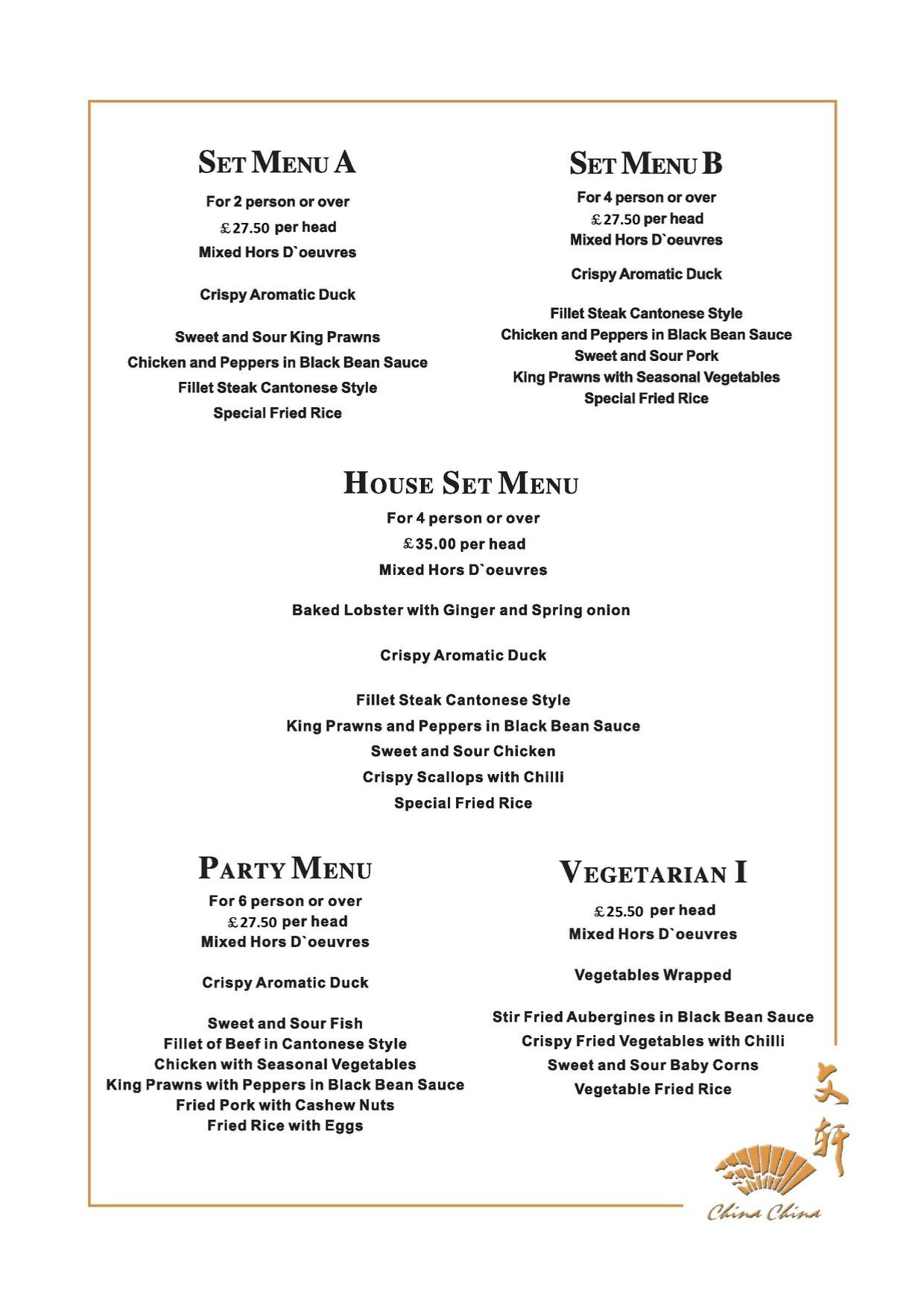 Menus man 39 s restaurantman 39 s restaurant nottingham s pre for Cuisine a la carte